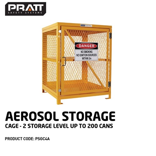 PRATT Aerosol Storage Cage. 2 Storage Level Up To 200 Cans