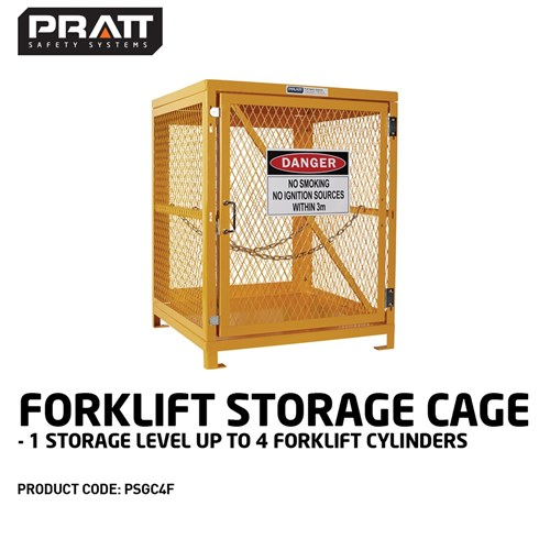 PRATT Forklift Storage Cage. 1 Storage Level Up To 4 Forklift Cylinders